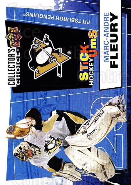 2008-09 Collectors Choice Stick Ums #14 Marc-Andre Fleury<br/>1 In Stock - $3.00 each - <a href=https://centericecollectibles.foxycart.com/cart?name=2008-09%20Collectors%20Choice%20Stick%20Ums%20%2314%20Marc-Andre%20Fleu...&quantity_max=1&price=$3.00&code=741870 class=foxycart> Buy it now! </a>
