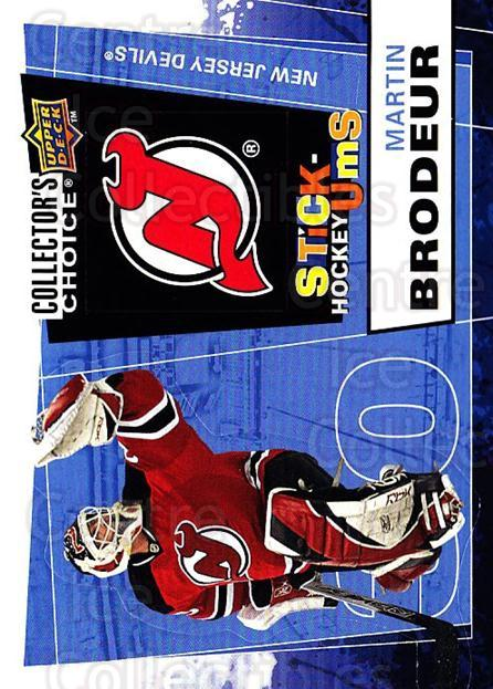 2008-09 Collectors Choice Stick Ums #16 Martin Brodeur<br/>1 In Stock - $5.00 each - <a href=https://centericecollectibles.foxycart.com/cart?name=2008-09%20Collectors%20Choice%20Stick%20Ums%20%2316%20Martin%20Brodeur...&quantity_max=1&price=$5.00&code=741872 class=foxycart> Buy it now! </a>