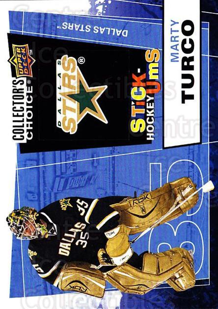 2008-09 Collectors Choice Stick Ums #18 Marty Turco<br/>1 In Stock - $2.00 each - <a href=https://centericecollectibles.foxycart.com/cart?name=2008-09%20Collectors%20Choice%20Stick%20Ums%20%2318%20Marty%20Turco...&quantity_max=1&price=$2.00&code=741874 class=foxycart> Buy it now! </a>