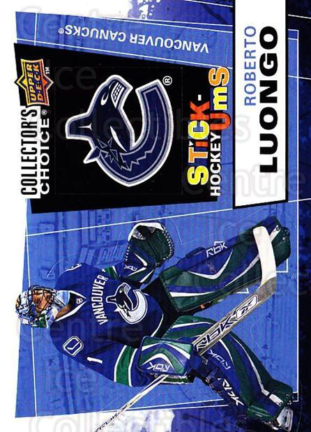2008-09 Collectors Choice Stick Ums #27 Roberto Luongo<br/>1 In Stock - $2.00 each - <a href=https://centericecollectibles.foxycart.com/cart?name=2008-09%20Collectors%20Choice%20Stick%20Ums%20%2327%20Roberto%20Luongo...&quantity_max=1&price=$2.00&code=741883 class=foxycart> Buy it now! </a>