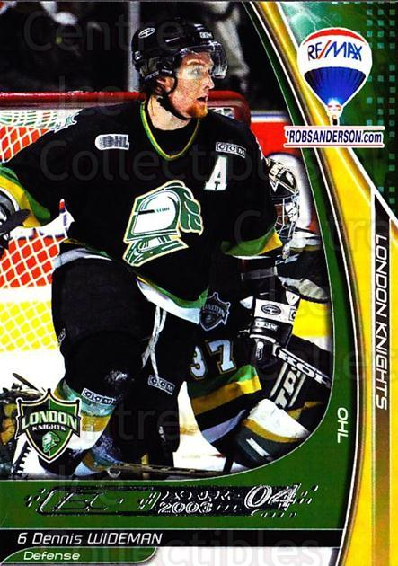2003-04 London Knights #23 Dennis Wideman<br/>1 In Stock - $3.00 each - <a href=https://centericecollectibles.foxycart.com/cart?name=2003-04%20London%20Knights%20%2323%20Dennis%20Wideman...&quantity_max=1&price=$3.00&code=741913 class=foxycart> Buy it now! </a>