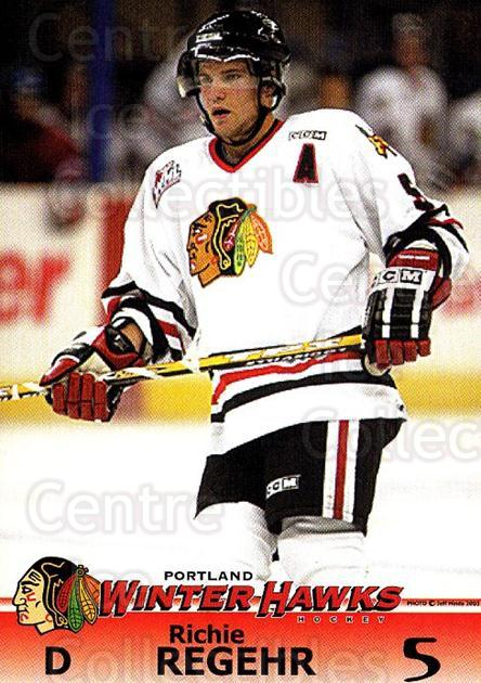 2003-04 Portland Winter Hawks #5 Richie Regehr<br/>1 In Stock - $3.00 each - <a href=https://centericecollectibles.foxycart.com/cart?name=2003-04%20Portland%20Winter%20Hawks%20%235%20Richie%20Regehr...&quantity_max=1&price=$3.00&code=742213 class=foxycart> Buy it now! </a>