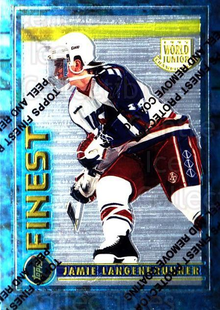 1994-95 Finest #120 Jamie Langenbrunner<br/>6 In Stock - $1.00 each - <a href=https://centericecollectibles.foxycart.com/cart?name=1994-95%20Finest%20%23120%20Jamie%20Langenbru...&quantity_max=6&price=$1.00&code=742 class=foxycart> Buy it now! </a>
