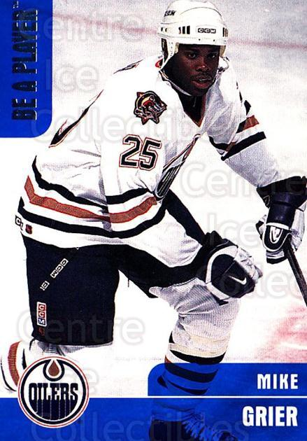 1999-00 BAP Memorabilia #222 Mike Grier<br/>3 In Stock - $1.00 each - <a href=https://centericecollectibles.foxycart.com/cart?name=1999-00%20BAP%20Memorabilia%20%23222%20Mike%20Grier...&quantity_max=3&price=$1.00&code=74308 class=foxycart> Buy it now! </a>