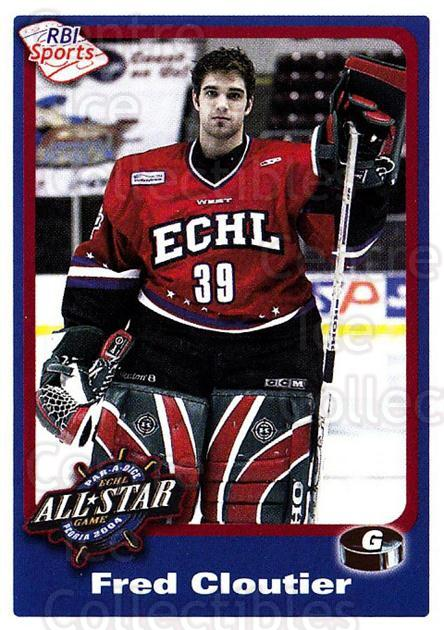 2003-04 ECHL All-Star Western RBI #264 Frederic Cloutier<br/>3 In Stock - $3.00 each - <a href=https://centericecollectibles.foxycart.com/cart?name=2003-04%20ECHL%20All-Star%20Western%20RBI%20%23264%20Frederic%20Clouti...&quantity_max=3&price=$3.00&code=743216 class=foxycart> Buy it now! </a>