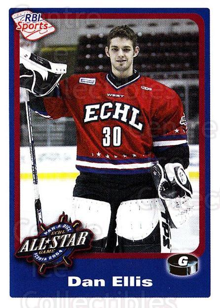 2003-04 ECHL All-Star Western RBI #267 Dan Ellis<br/>2 In Stock - $3.00 each - <a href=https://centericecollectibles.foxycart.com/cart?name=2003-04%20ECHL%20All-Star%20Western%20RBI%20%23267%20Dan%20Ellis...&quantity_max=2&price=$3.00&code=743219 class=foxycart> Buy it now! </a>