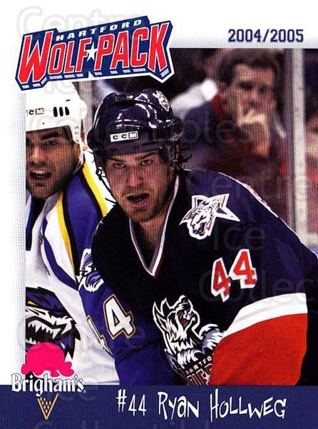 2004-05 Hartford Wolf Pack #9 Ryan Hollweg<br/>1 In Stock - $3.00 each - <a href=https://centericecollectibles.foxycart.com/cart?name=2004-05%20Hartford%20Wolf%20Pack%20%239%20Ryan%20Hollweg...&quantity_max=1&price=$3.00&code=743364 class=foxycart> Buy it now! </a>