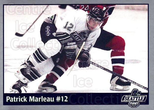 1995-96 Seattle Thunderbirds #4 Patrick Marleau<br/>2 In Stock - $20.00 each - <a href=https://centericecollectibles.foxycart.com/cart?name=1995-96%20Seattle%20Thunderbirds%20%234%20Patrick%20Marleau...&quantity_max=2&price=$20.00&code=745699 class=foxycart> Buy it now! </a>