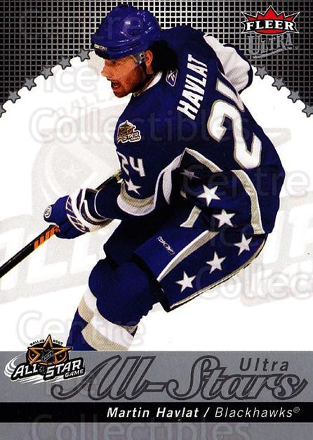 2007-08 Ultra All-Stars #10 Martin Havlat<br/>1 In Stock - $5.00 each - <a href=https://centericecollectibles.foxycart.com/cart?name=2007-08%20Ultra%20All-Stars%20%2310%20Martin%20Havlat...&quantity_max=1&price=$5.00&code=745741 class=foxycart> Buy it now! </a>