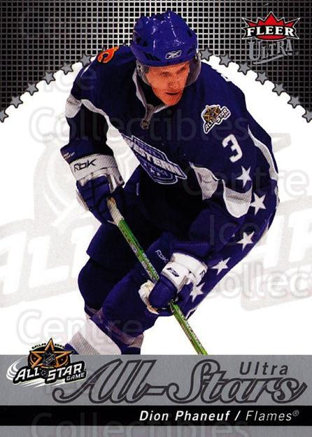 2007-08 Ultra All-Stars #14 Dion Phaneuf<br/>1 In Stock - $5.00 each - <a href=https://centericecollectibles.foxycart.com/cart?name=2007-08%20Ultra%20All-Stars%20%2314%20Dion%20Phaneuf...&quantity_max=1&price=$5.00&code=745745 class=foxycart> Buy it now! </a>