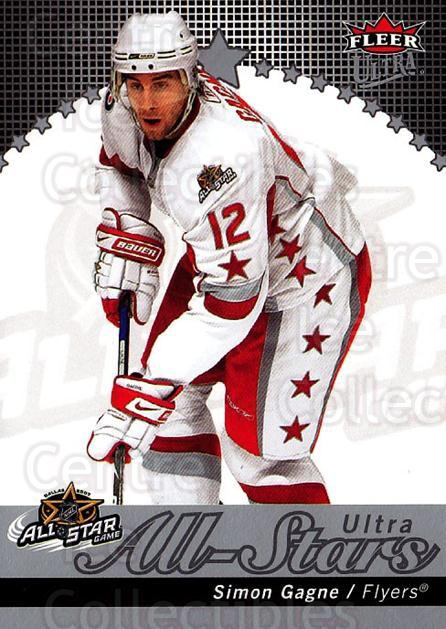 2007-08 Ultra All-Stars #23 Simon Gagne<br/>1 In Stock - $5.00 each - <a href=https://centericecollectibles.foxycart.com/cart?name=2007-08%20Ultra%20All-Stars%20%2323%20Simon%20Gagne...&quantity_max=1&price=$5.00&code=745754 class=foxycart> Buy it now! </a>