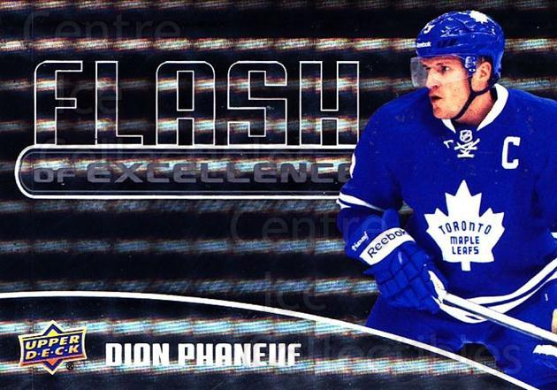 2014-15 Upper Deck Overtime Flash of Excellence #3 Dion Phaneuf<br/>1 In Stock - $3.00 each - <a href=https://centericecollectibles.foxycart.com/cart?name=2014-15%20Upper%20Deck%20Overtime%20Flash%20of%20Excellence%20%233%20Dion%20Phaneuf...&quantity_max=1&price=$3.00&code=745815 class=foxycart> Buy it now! </a>