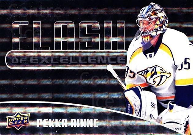 2014-15 Upper Deck Overtime Flash of Excellence #5 Pekka Rinne<br/>1 In Stock - $3.00 each - <a href=https://centericecollectibles.foxycart.com/cart?name=2014-15%20Upper%20Deck%20Overtime%20Flash%20of%20Excellence%20%235%20Pekka%20Rinne...&quantity_max=1&price=$3.00&code=745817 class=foxycart> Buy it now! </a>