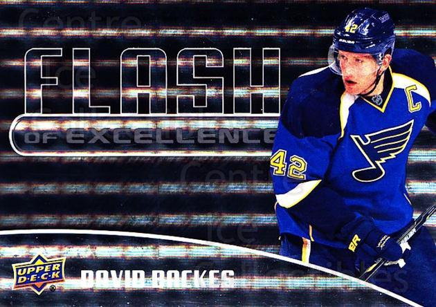 2014-15 Upper Deck Overtime Flash of Excellence #13 David Backes<br/>1 In Stock - $3.00 each - <a href=https://centericecollectibles.foxycart.com/cart?name=2014-15%20Upper%20Deck%20Overtime%20Flash%20of%20Excellence%20%2313%20David%20Backes...&quantity_max=1&price=$3.00&code=745825 class=foxycart> Buy it now! </a>