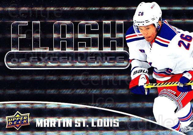 2014-15 Upper Deck Overtime Flash of Excellence #23 Martin St. Louis<br/>1 In Stock - $3.00 each - <a href=https://centericecollectibles.foxycart.com/cart?name=2014-15%20Upper%20Deck%20Overtime%20Flash%20of%20Excellence%20%2323%20Martin%20St.%20Loui...&quantity_max=1&price=$3.00&code=745835 class=foxycart> Buy it now! </a>