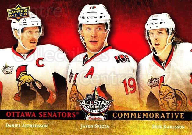 2012 Upper Deck NHL All-Star Game #Com1 Daniel Alfredsson, Jason Spezza, Erik Karlsson<br/>1 In Stock - $5.00 each - <a href=https://centericecollectibles.foxycart.com/cart?name=2012%20Upper%20Deck%20NHL%20All-Star%20Game%20%23Com1%20Daniel%20Alfredss...&quantity_max=1&price=$5.00&code=745882 class=foxycart> Buy it now! </a>