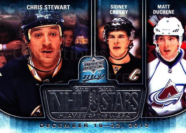 2014-15 Upper Deck MVP Player of the Week #25 Chris Stewart, Sidney Crosby, Matt Duchene<br/>1 In Stock - $5.00 each - <a href=https://centericecollectibles.foxycart.com/cart?name=2014-15%20Upper%20Deck%20MVP%20Player%20of%20the%20Week%20%2325%20Chris%20Stewart,%20...&quantity_max=1&price=$5.00&code=745954 class=foxycart> Buy it now! </a>