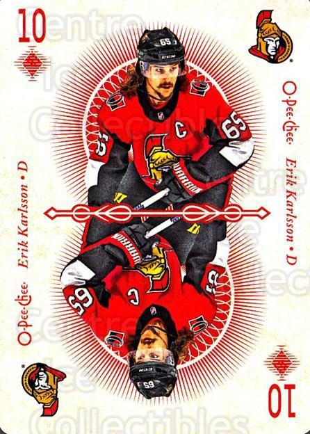 2018-19 O-Pee-Chee Playing Cards #23 Erik Karlsson<br/>1 In Stock - $3.00 each - <a href=https://centericecollectibles.foxycart.com/cart?name=2018-19%20O-Pee-Chee%20Playing%20Cards%20%2323%20Erik%20Karlsson...&quantity_max=1&price=$3.00&code=746010 class=foxycart> Buy it now! </a>