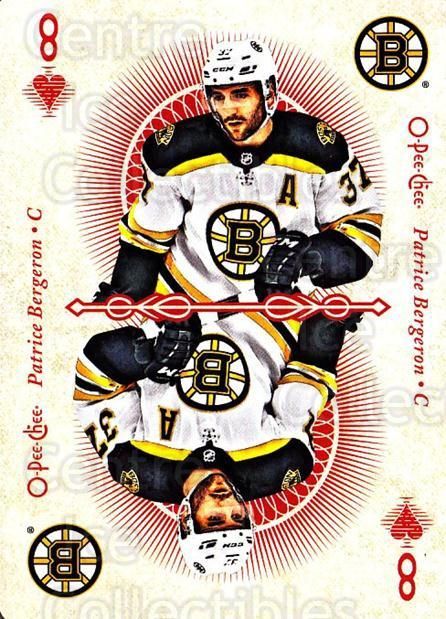 2018-19 O-Pee-Chee Playing Cards #47 Patrice Bergeron<br/>1 In Stock - $3.00 each - <a href=https://centericecollectibles.foxycart.com/cart?name=2018-19%20O-Pee-Chee%20Playing%20Cards%20%2347%20Patrice%20Bergero...&quantity_max=1&price=$3.00&code=746034 class=foxycart> Buy it now! </a>