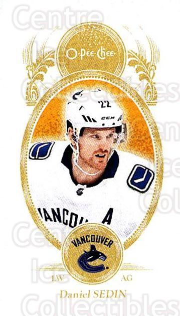 2018-19 O-Pee-Chee Mini #29 Daniel Sedin<br/>3 In Stock - $2.00 each - <a href=https://centericecollectibles.foxycart.com/cart?name=2018-19%20O-Pee-Chee%20Mini%20%2329%20Daniel%20Sedin...&quantity_max=3&price=$2.00&code=746068 class=foxycart> Buy it now! </a>