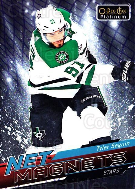 2018-19 O-pee-chee Platinum Net Magnets #6 Tyler Seguin<br/>5 In Stock - $3.00 each - <a href=https://centericecollectibles.foxycart.com/cart?name=2018-19%20O-pee-chee%20Platinum%20Net%20Magnets%20%236%20Tyler%20Seguin...&quantity_max=5&price=$3.00&code=746132 class=foxycart> Buy it now! </a>