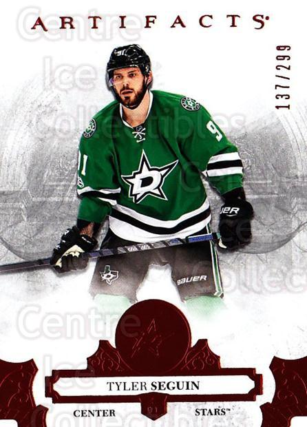 2017-18 UD Artifacts Red #40 Tyler Seguin<br/>1 In Stock - $3.00 each - <a href=https://centericecollectibles.foxycart.com/cart?name=2017-18%20UD%20Artifacts%20Red%20%2340%20Tyler%20Seguin...&quantity_max=1&price=$3.00&code=746798 class=foxycart> Buy it now! </a>