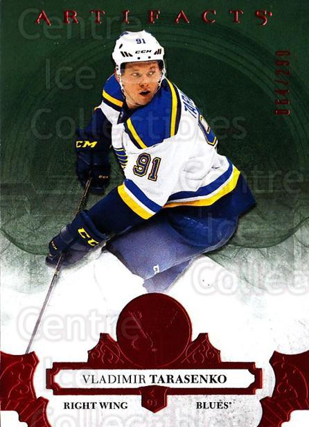 2017-18 UD Artifacts Red #130 Vladimir Tarasenko<br/>1 In Stock - $3.00 each - <a href=https://centericecollectibles.foxycart.com/cart?name=2017-18%20UD%20Artifacts%20Red%20%23130%20Vladimir%20Tarase...&quantity_max=1&price=$3.00&code=746870 class=foxycart> Buy it now! </a>