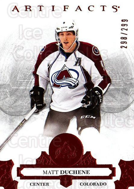 2017-18 UD Artifacts Red #91 Matt Duchene<br/>1 In Stock - $3.00 each - <a href=https://centericecollectibles.foxycart.com/cart?name=2017-18%20UD%20Artifacts%20Red%20%2391%20Matt%20Duchene...&quantity_max=1&price=$3.00&code=746921 class=foxycart> Buy it now! </a>