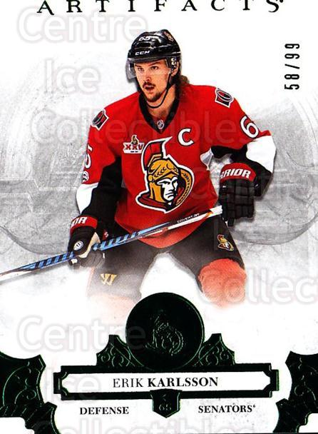 2017-18 UD Artifacts Emerald #49 Erik Karlsson<br/>1 In Stock - $5.00 each - <a href=https://centericecollectibles.foxycart.com/cart?name=2017-18%20UD%20Artifacts%20Emerald%20%2349%20Erik%20Karlsson...&quantity_max=1&price=$5.00&code=747027 class=foxycart> Buy it now! </a>