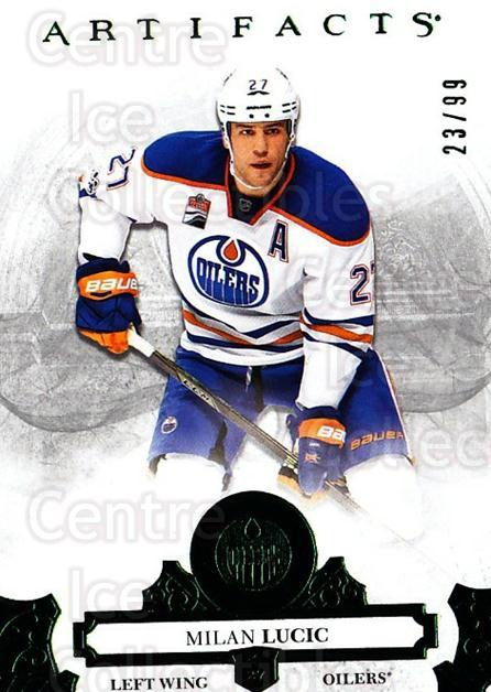 2017-18 UD Artifacts Emerald #62 Milan Lucic<br/>1 In Stock - $5.00 each - <a href=https://centericecollectibles.foxycart.com/cart?name=2017-18%20UD%20Artifacts%20Emerald%20%2362%20Milan%20Lucic...&quantity_max=1&price=$5.00&code=747038 class=foxycart> Buy it now! </a>