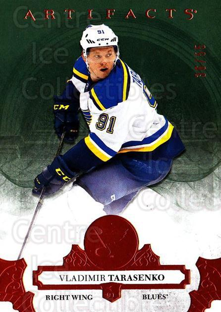 2017-18 UD Artifacts Orange #130 Vladimir Tarasenko<br/>1 In Stock - $10.00 each - <a href=https://centericecollectibles.foxycart.com/cart?name=2017-18%20UD%20Artifacts%20Orange%20%23130%20Vladimir%20Tarase...&quantity_max=1&price=$10.00&code=747310 class=foxycart> Buy it now! </a>