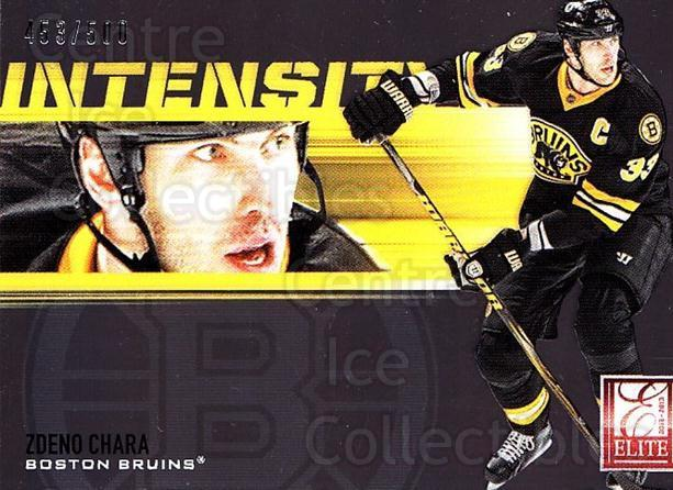 2012-13 Elite Intensity #17 Zdeno Chara<br/>1 In Stock - $5.00 each - <a href=https://centericecollectibles.foxycart.com/cart?name=2012-13%20Elite%20Intensity%20%2317%20Zdeno%20Chara...&quantity_max=1&price=$5.00&code=747447 class=foxycart> Buy it now! </a>
