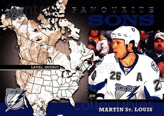 2008-09 Upper Deck Favourite Sons #12 Martin St. Louis<br/>2 In Stock - $3.00 each - <a href=https://centericecollectibles.foxycart.com/cart?name=2008-09%20Upper%20Deck%20Favourite%20Sons%20%2312%20Martin%20St.%20Loui...&quantity_max=2&price=$3.00&code=747790 class=foxycart> Buy it now! </a>