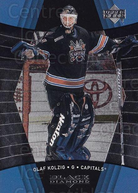 1999-00 Black Diamond #88 Olaf Kolzig<br/>7 In Stock - $1.00 each - <a href=https://centericecollectibles.foxycart.com/cart?name=1999-00%20Black%20Diamond%20%2388%20Olaf%20Kolzig...&quantity_max=7&price=$1.00&code=74783 class=foxycart> Buy it now! </a>