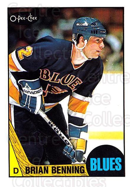 1987-88 O-pee-chee Blank Backs #122 Brian Benning<br/>1 In Stock - $5.00 each - <a href=https://centericecollectibles.foxycart.com/cart?name=1987-88%20O-pee-chee%20Blank%20Backs%20%23122%20Brian%20Benning...&quantity_max=1&price=$5.00&code=747852 class=foxycart> Buy it now! </a>