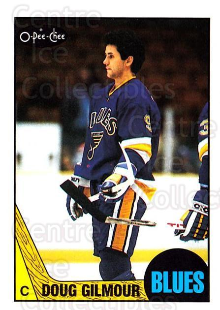 1987-88 O-pee-chee Blank Backs #175 Doug Gilmour<br/>1 In Stock - $10.00 each - <a href=https://centericecollectibles.foxycart.com/cart?name=1987-88%20O-pee-chee%20Blank%20Backs%20%23175%20Doug%20Gilmour...&quantity_max=1&price=$10.00&code=747904 class=foxycart> Buy it now! </a>