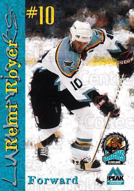1999-00 Cleveland Lumberjacks #20 Remi Royer<br/>2 In Stock - $3.00 each - <a href=https://centericecollectibles.foxycart.com/cart?name=1999-00%20Cleveland%20Lumberjacks%20%2320%20Remi%20Royer...&quantity_max=2&price=$3.00&code=74822 class=foxycart> Buy it now! </a>