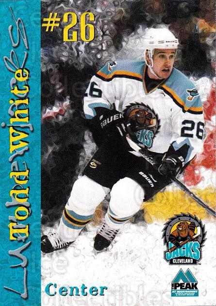 1999-00 Cleveland Lumberjacks #23 Todd White<br/>3 In Stock - $3.00 each - <a href=https://centericecollectibles.foxycart.com/cart?name=1999-00%20Cleveland%20Lumberjacks%20%2323%20Todd%20White...&quantity_max=3&price=$3.00&code=74825 class=foxycart> Buy it now! </a>