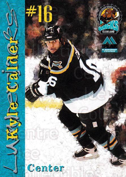 1999-00 Cleveland Lumberjacks #3 Kyle Calder<br/>2 In Stock - $3.00 each - <a href=https://centericecollectibles.foxycart.com/cart?name=1999-00%20Cleveland%20Lumberjacks%20%233%20Kyle%20Calder...&quantity_max=2&price=$3.00&code=74827 class=foxycart> Buy it now! </a>