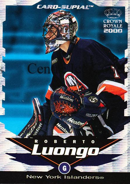 1999-00 Crown Royale Supials Minis #15 Roberto Luongo<br/>3 In Stock - $3.00 each - <a href=https://centericecollectibles.foxycart.com/cart?name=1999-00%20Crown%20Royale%20Supials%20Minis%20%2315%20Roberto%20Luongo...&quantity_max=3&price=$3.00&code=74835 class=foxycart> Buy it now! </a>