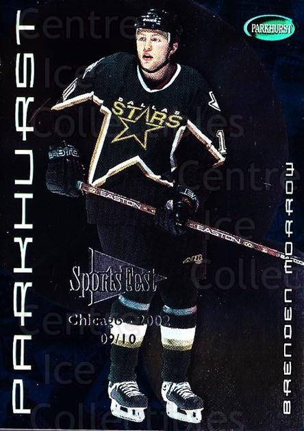 2001-02 Parkhurst SportsFest #138 Brenden Morrow<br/>1 In Stock - $10.00 each - <a href=https://centericecollectibles.foxycart.com/cart?name=2001-02%20Parkhurst%20SportsFest%20%23138%20Brenden%20Morrow...&quantity_max=1&price=$10.00&code=748457 class=foxycart> Buy it now! </a>