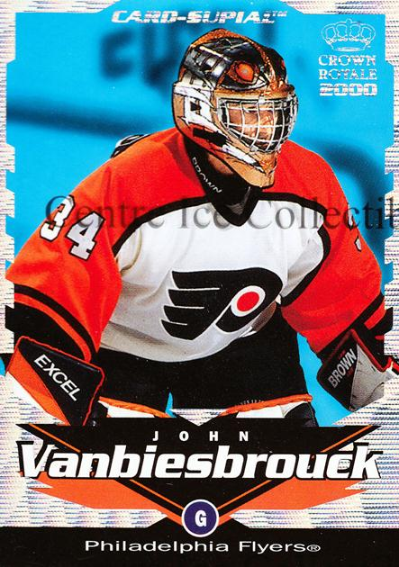 1999-00 Crown Royale Supials #17 John Vanbiesbrouck<br/>2 In Stock - $3.00 each - <a href=https://centericecollectibles.foxycart.com/cart?name=1999-00%20Crown%20Royale%20Supials%20%2317%20John%20Vanbiesbro...&quantity_max=2&price=$3.00&code=74846 class=foxycart> Buy it now! </a>