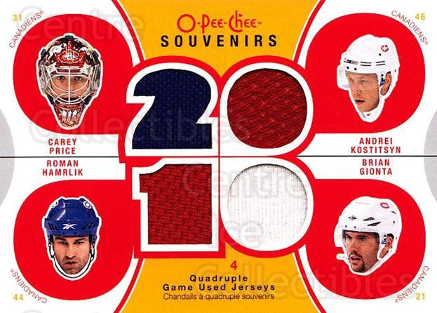 2010-11 O-Pee-Chee Souvenirs #HABS Carey Price, Andrei Kostitsyn, Roman Hamrlik, Brian Gionta<br/>1 In Stock - $15.00 each - <a href=https://centericecollectibles.foxycart.com/cart?name=2010-11%20O-Pee-Chee%20Souvenirs%20%23HABS%20Carey%20Price,%20An...&quantity_max=1&price=$15.00&code=748791 class=foxycart> Buy it now! </a>