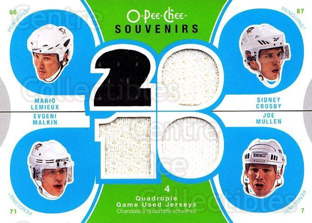 2010-11 O-Pee-Chee Souvenirs #PITT Joe Mullen, Mario Lemieux, Sidney Crosby, Evgeni Malkin<br/>1 In Stock - $20.00 each - <a href=https://centericecollectibles.foxycart.com/cart?name=2010-11%20O-Pee-Chee%20Souvenirs%20%23PITT%20Joe%20Mullen,%20Mar...&quantity_max=1&price=$20.00&code=748797 class=foxycart> Buy it now! </a>