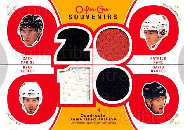 2010-11 O-Pee-Chee Souvenirs #USA Zach Parise, David Backes, Ryan Kesler, Patrick Kane<br/>1 In Stock - $10.00 each - <a href=https://centericecollectibles.foxycart.com/cart?name=2010-11%20O-Pee-Chee%20Souvenirs%20%23USA%20Zach%20Parise,%20Da...&quantity_max=1&price=$10.00&code=748806 class=foxycart> Buy it now! </a>