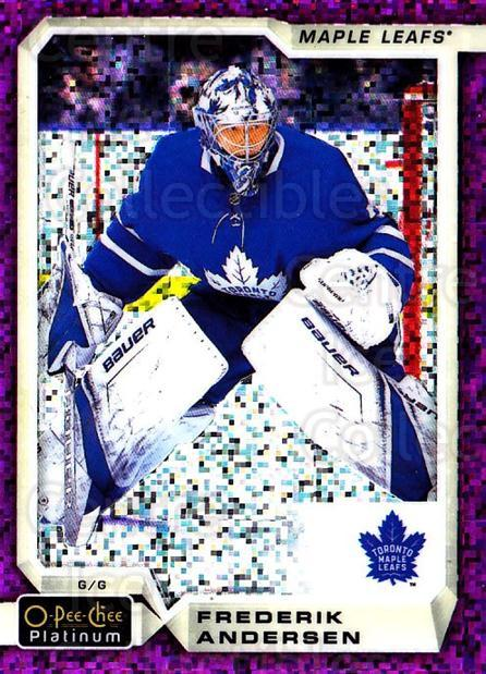 2018-19 O-Pee-Chee Platinum Violet Pixels #127 Frederik Andersen<br/>1 In Stock - $5.00 each - <a href=https://centericecollectibles.foxycart.com/cart?name=2018-19%20O-Pee-Chee%20Platinum%20Violet%20Pixels%20%23127%20Frederik%20Anders...&quantity_max=1&price=$5.00&code=748954 class=foxycart> Buy it now! </a>