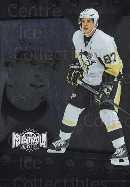 2014-15 Fleer Showcase Metal Universe #8 Sidney Crosby<br/>3 In Stock - $10.00 each - <a href=https://centericecollectibles.foxycart.com/cart?name=2014-15%20Fleer%20Showcase%20Metal%20Universe%20%238%20Sidney%20Crosby...&quantity_max=3&price=$10.00&code=750008 class=foxycart> Buy it now! </a>