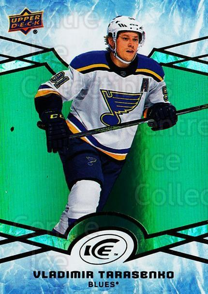 2018-19 UD Ice Green #10 Vladimir Tarasenko<br/>3 In Stock - $3.00 each - <a href=https://centericecollectibles.foxycart.com/cart?name=2018-19%20UD%20Ice%20Green%20%2310%20Vladimir%20Tarase...&quantity_max=3&price=$3.00&code=750800 class=foxycart> Buy it now! </a>