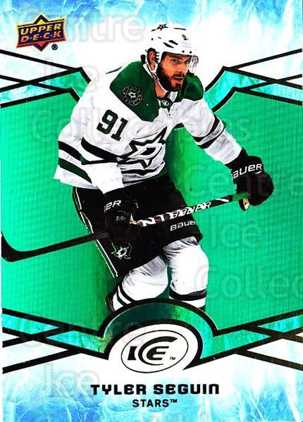 2018-19 UD Ice Green #21 Tyler Seguin<br/>1 In Stock - $3.00 each - <a href=https://centericecollectibles.foxycart.com/cart?name=2018-19%20UD%20Ice%20Green%20%2321%20Tyler%20Seguin...&quantity_max=1&price=$3.00&code=750811 class=foxycart> Buy it now! </a>