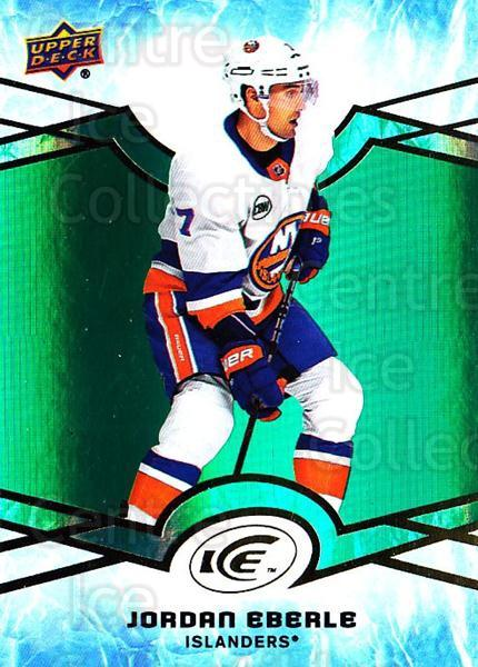 2018-19 UD Ice Green #33 Jordan Eberle<br/>3 In Stock - $3.00 each - <a href=https://centericecollectibles.foxycart.com/cart?name=2018-19%20UD%20Ice%20Green%20%2333%20Jordan%20Eberle...&quantity_max=3&price=$3.00&code=750823 class=foxycart> Buy it now! </a>